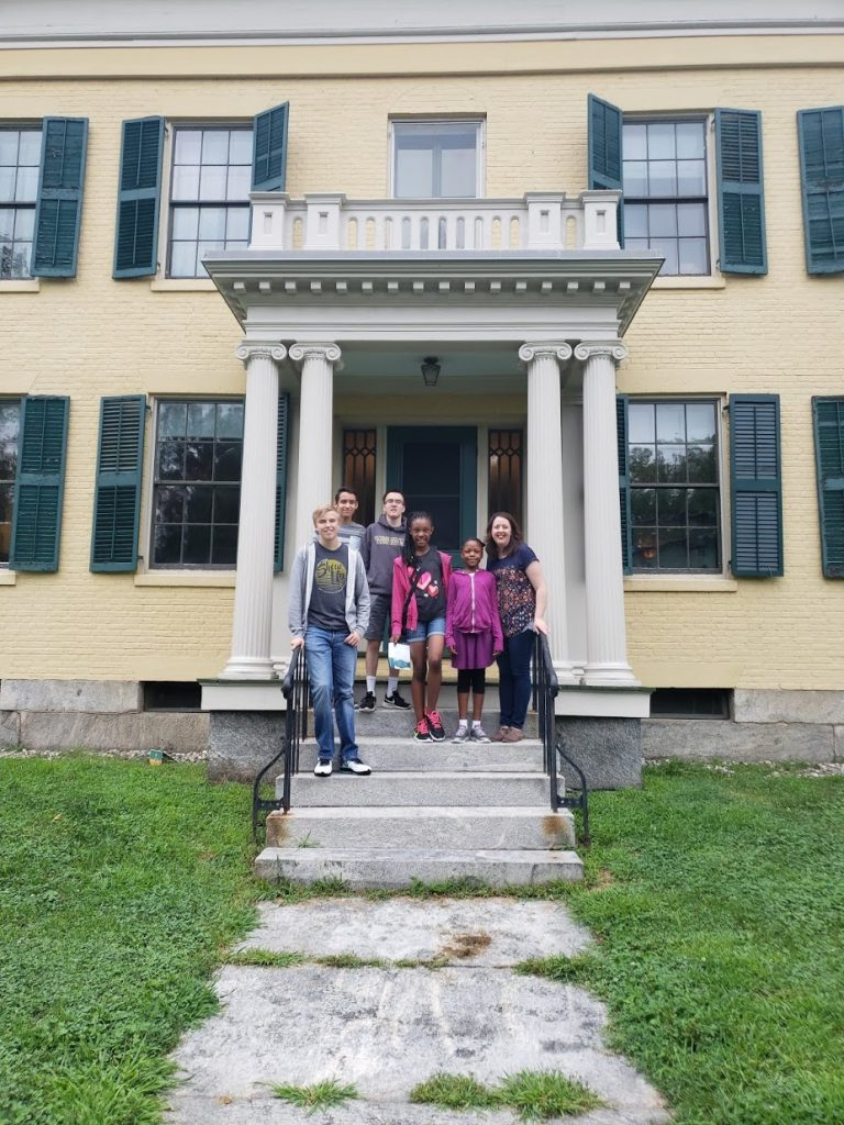 Brenda Scott's family at Emily Dickinson's home in Amherst, MA, The Adoptive Mom, Adoption